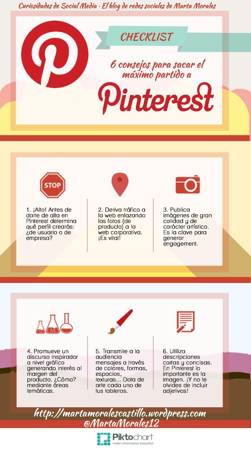 consejos para sacar el máximo partido a Pinterest Marta Morales periodista community manager blog curiosidades de social media