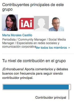 contribuidor principal grupos profesionales linkedin marta morales periodista community manager blog curiosidades social media