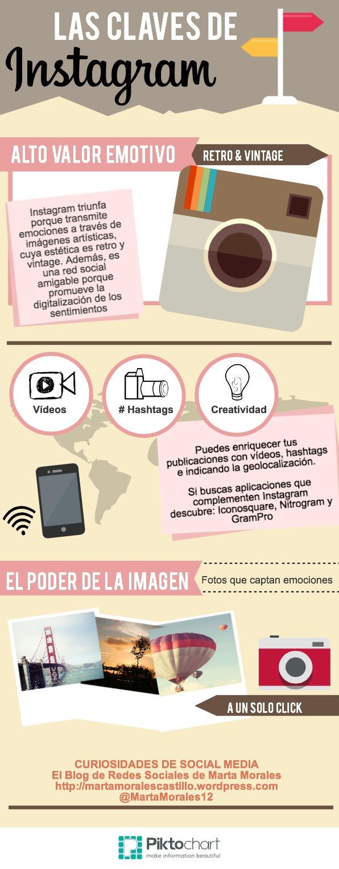 infografia claves exito instagram blog curiosidades social media marta morales periodista community manager