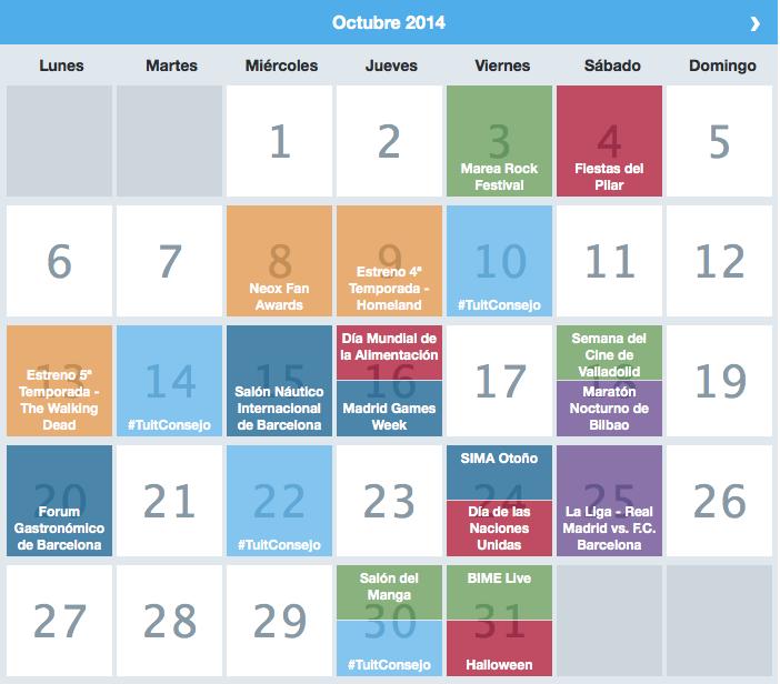 Calendario momentos clave twitter #PlanTheMoment blog curiosidades social media Marta Morales periodista community manager