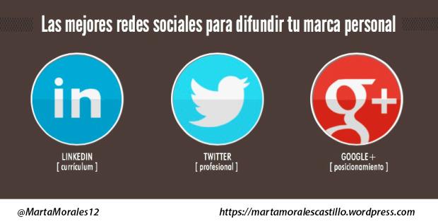 las mejores redes sociales para difundir tu marca personal branding marta morales periodista community manager blog curiosidades social media