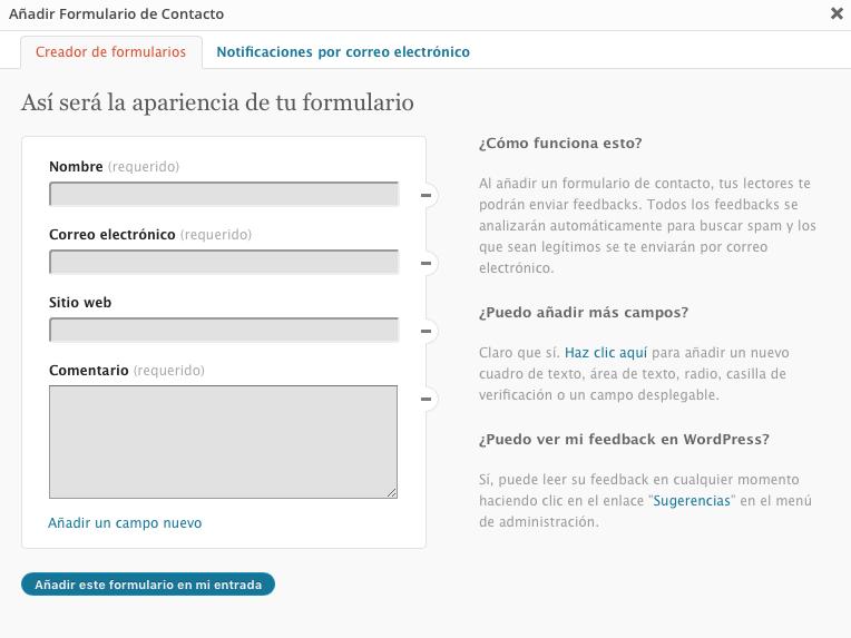 formulario contacto blog wordpress marta morales castillo periodista community manager blog curiosidades social media