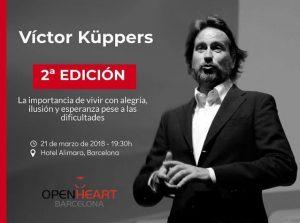 victor kuppers pensamiento positivo alegria conferencia open heart barcelona marta morales